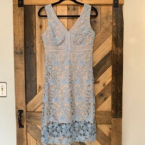 Soprano | Blue Lace Crochet Dress